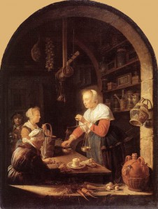 Gerrit Dou. The Grocer's Shop. 1647. Oil on wood panel. Musée du Louvre, Paris.